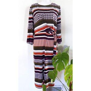EUC ELOQUII Mixed Patterns Stretch Jersey Dress 26